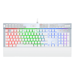 Teclado Mecánico Redragon Yama White K550 RGB - Switch Purple