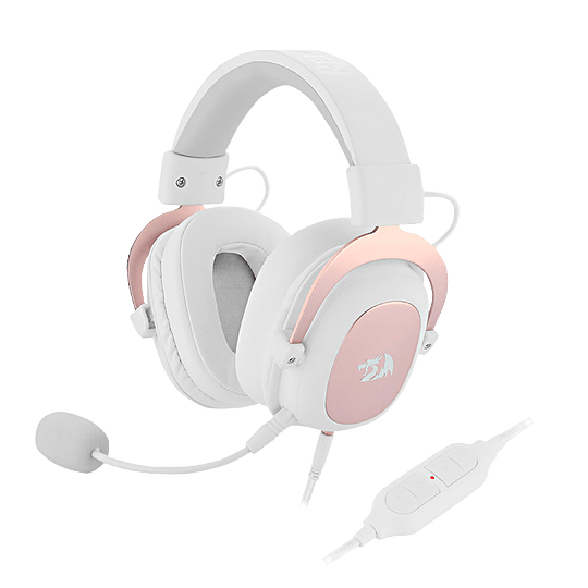 Audífonos Gamer Redragon ZEUS H510 White