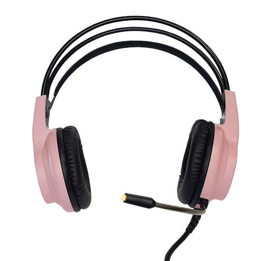 Audifonos Gamer CrowSense Pink RGB PS4/PS5/PC