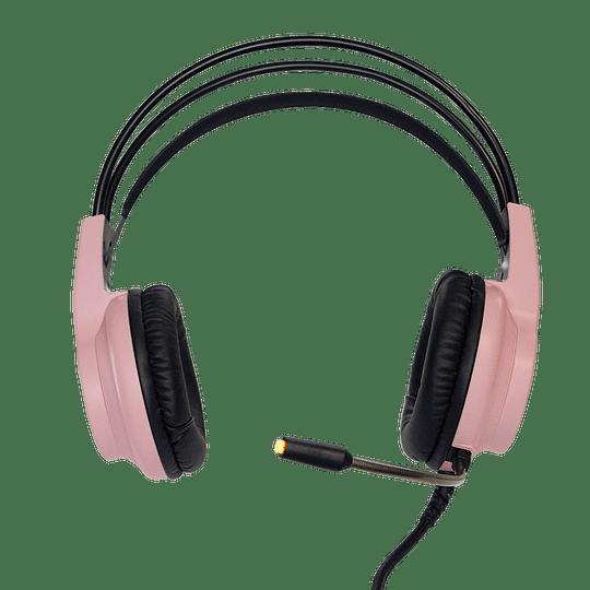 Audifonos Gamer CrowSense Pink RGB PS4/PS5/PC