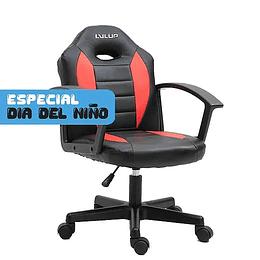 Silla gamer LVL UP Luxury S Rojo/Negro