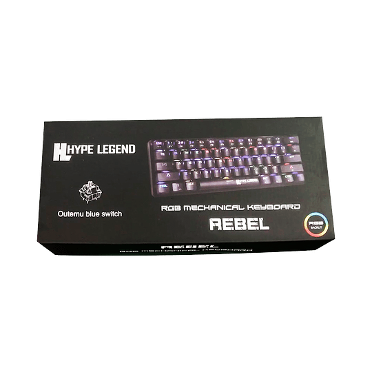 Teclado Mecánico Gamer Hypelegend Rebel Black - Switch red