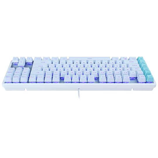 Teclado Mecánico Gamer TKL White Rebel L  Switch - Blue