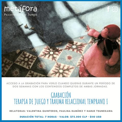 Grabación Curso introductorio Online: Trauma Relacional Temprano y Terapia de Juego.