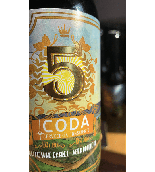 V Aniversario 350 cc.<br/>White Wine Barrel-Aged Double IPA