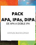 Pack APA, IPAs, DIPA</br>Lúpulo por todos lados
