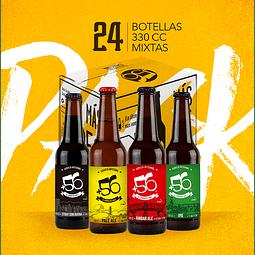Cerveza +56 Mixtas • 24 Botellas 330cc