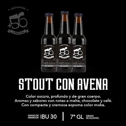 Cerveza +56 Stout con Avena • 24 Botellas 330cc