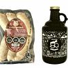 Pack 1 Growler 1 litro + Chorizo Parrillero 6 unidades (Cecinas Omeñaca)