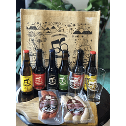 Pack aperitivo cerveza parrilla dieciochero 🍻 🇨🇱