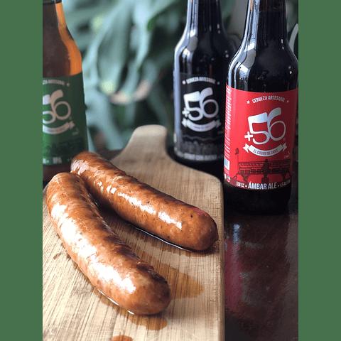 4 Cervezas Mixtas de 330cc + Longanizas de Campo Parrillero (Cecinas Omeñaca)