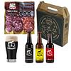 Pack Regalo • 3 Cervezas Artesanales + 1 vaso + 1 tablas mix 3 salames 180grs