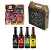 Pack regalo 4 Cervezas mixtas + mix salames 180gr