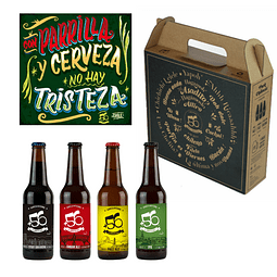 Pack regalo cartel parrilla + Cervezas +56