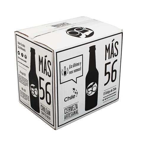 Cerveza Artesanal +56 • Caja mixta 12 botellas 330cc