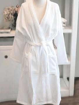 Bata Algodón Blanca  Kimono