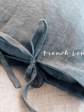 Funda Almohada/cojín de lino envejecido francés
