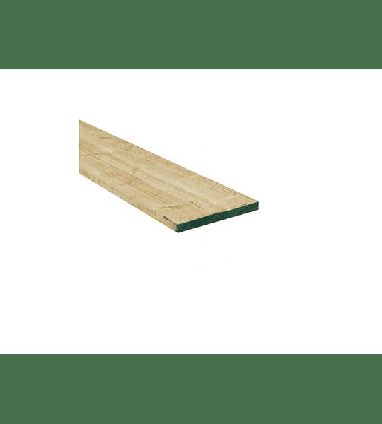 Madera verde  bruto 1x7 / Largo: 4m