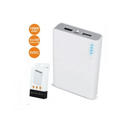 Powerbank 10000ma C/ Ficha Micro USB 2USB
