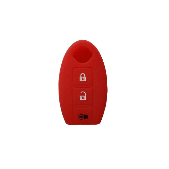NISSAN - Capa silicone 3 botões oval