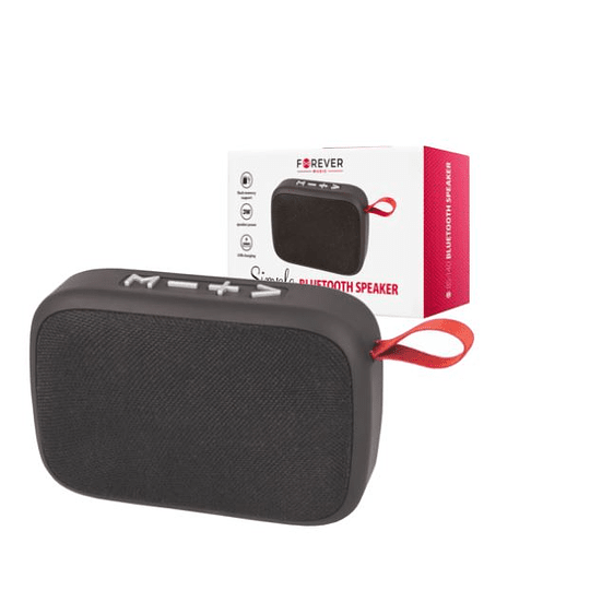 Coluna Bluetooth Portátil 3W FM/USB/SD/Mic FOREVER