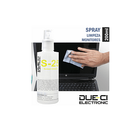 Spray de 200ml Limpeza Monitores