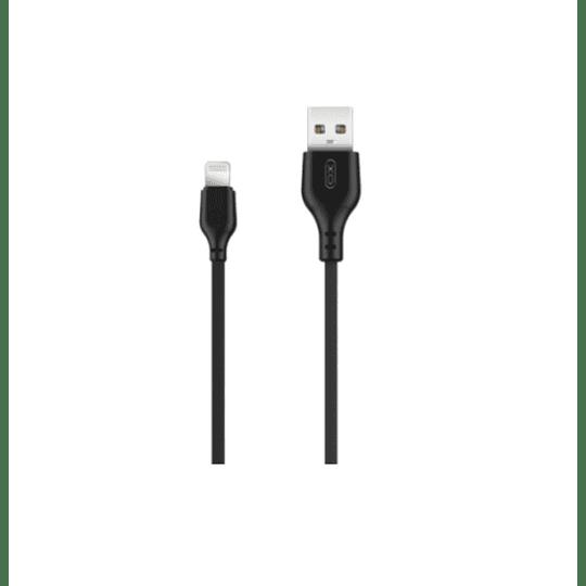 Cabo USB-A 2.0 Macho / Lightning 8P 2.1A 1M Preto
