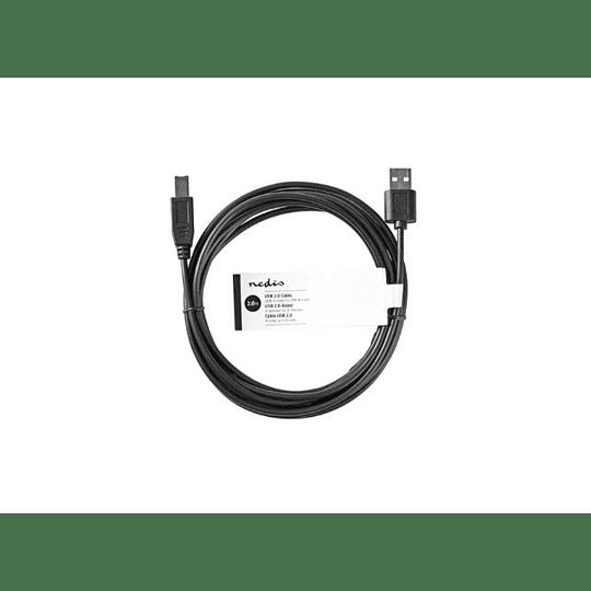 CABO USB-A 2.0 MACHO / USB-B MACHO