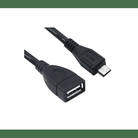 Adaptador USB A Femea - micro USB B Macho