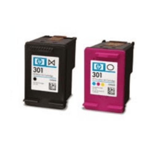 Tinteiros HP 301 Combo-pack Preto / Tri-color Original (N9J72AE)