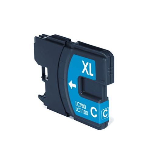 Tinteiro Compatível Brother Azul (LC980/LC985/LC1100)