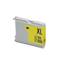 Tinteiro Compatível Brother Amarelo (LC970/LC1000)