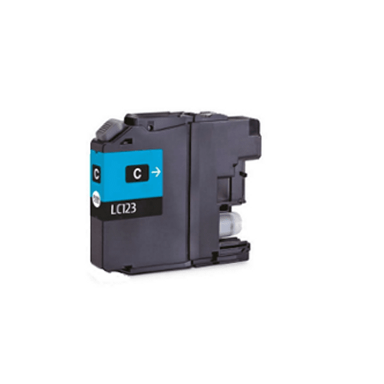 Tinteiro Compatível Brother Azul Versão 3 (LC123)
