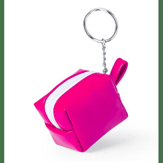 Porta moedas e chaves forma de mala
