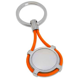 Porta chaves em metal e silicone