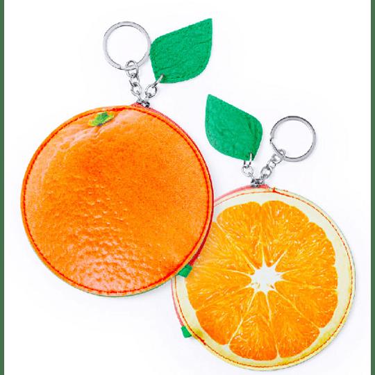 Porta moedas com formato de fruta