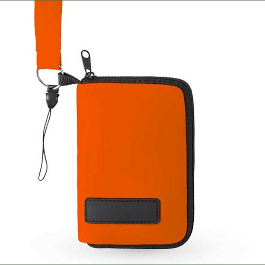 Bolsa com fita para pescoço