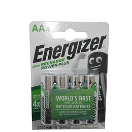 Pilha recarregaveis 2000mAh, 1.2 Volts, 4x ENERGIZER