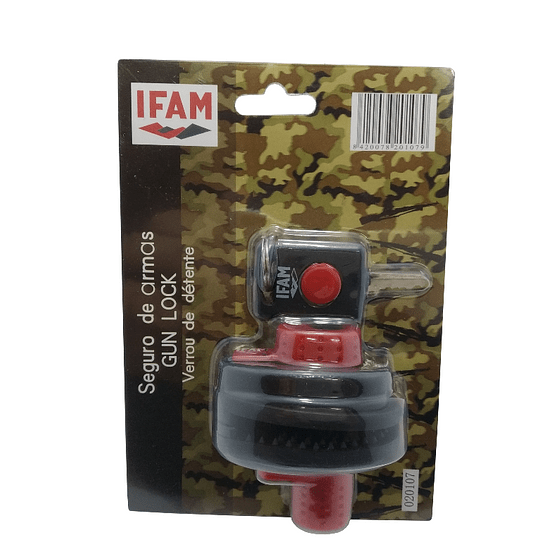 Cadeado IFAM gun lock gatilho
