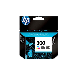 Tinteiro HP 300 Original Tricolor (CC643EE)
