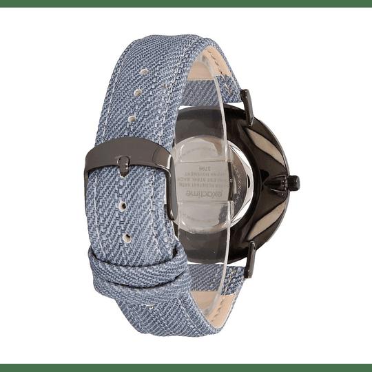 Relógio com bracelete em ganga