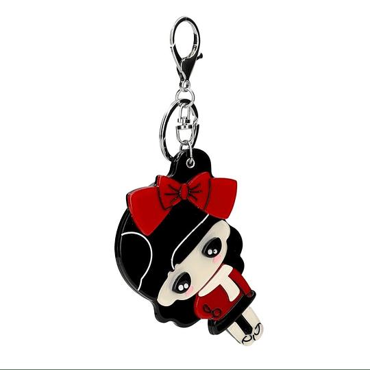 Porta chaves formato menina
