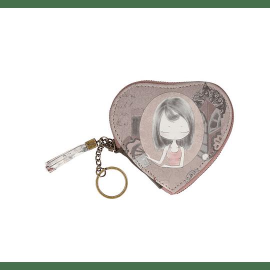 Porta chaves e moedas forma coração