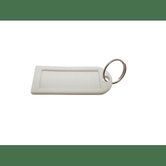 Etiqueta identificação chaves ponta reta