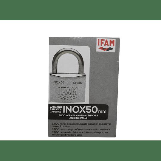 Cadeado Inox com aro de 50mm