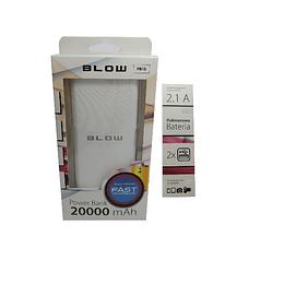 Powerbank 20000mA com ficha USB
