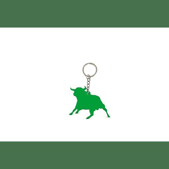 Porta-chaves com a forma de touro aluminio