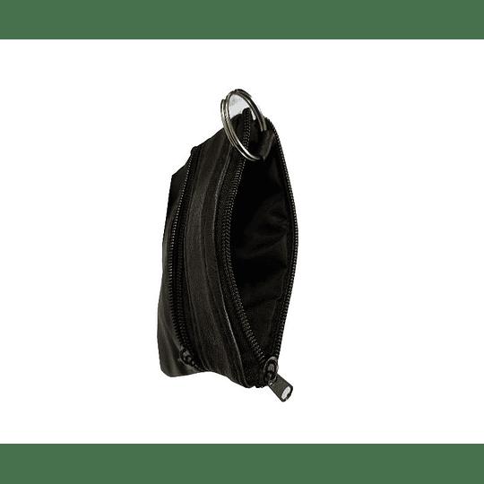 Porta chaves e moedas Trizip em pele