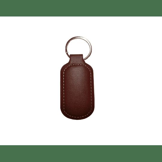 Porta chaves em pele e metal
