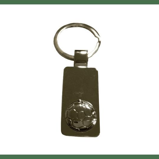 Porta chaves metal bola futebol